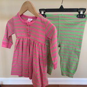 Hanna Andersson 2 piece dress & leggings.